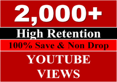 Provide you 2,000 YouTube Views