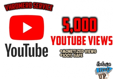 Provide you 5,000 Youtube Views