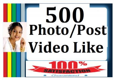 give 500+ Likes In Pic Or 10,000 Video Views Social media Marketing