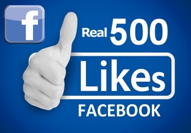 Give you 500+ Facebook Likes
