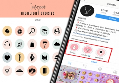 design story icons, cover icons, and Instagram story highlight icons