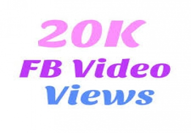 Add Real 20,000+ Facebook Video Views
