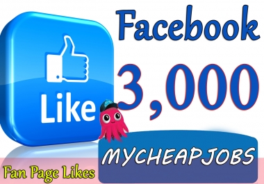 Provide You 3000 Facebook Fan page Likes