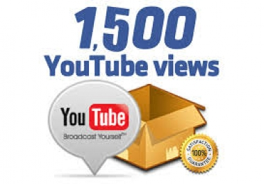 provide you Real 1,500+ Youtube Views