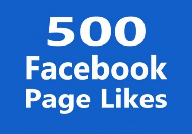 Provide HQ Real 500 facebook Page Likes