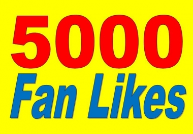 Provide You 5000 Facebook Fan page Likes