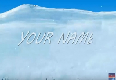 do amazing HQ that write  text name on ice with Penguin