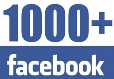 provide 1000 Facebook likes