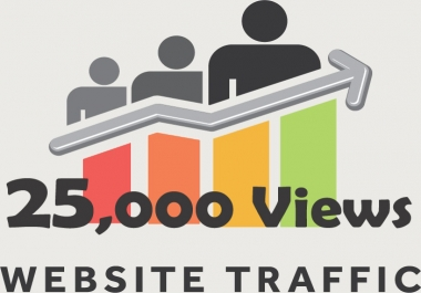 send you real 25,000+ website traffic visitors from worldwide