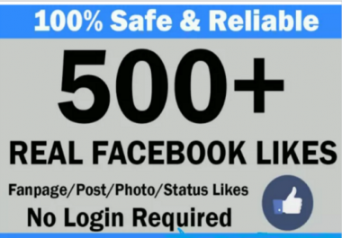 Add 500 Real Facebook fan Page Likes