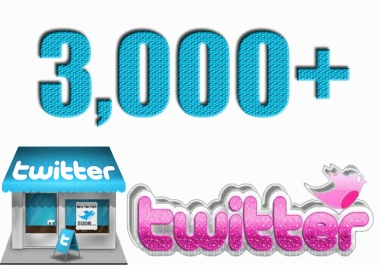 give 3000+ Real and Active Twitter Followers within 24 Hours