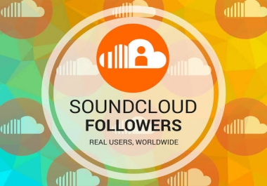 Add 700+ SOUNDCLOUD FOLLOWERS ORGANIC REAL ACTIVE USERS AND NON DROP GUARANTEED
