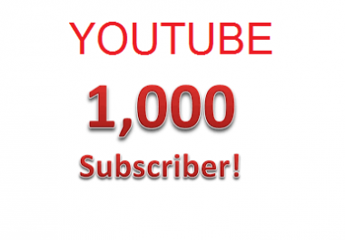 Give 1,000 YOUTUBE Subscribers