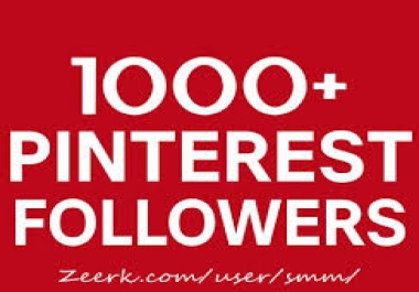 add you real 1000 Pinterest followers within very short time
