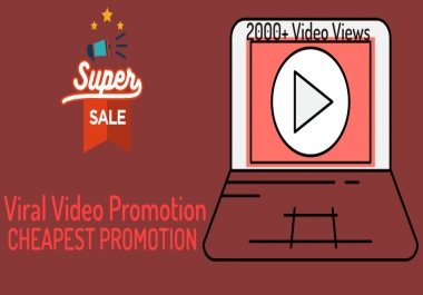 Do Viral promotion 2000+ non drop high retention Views