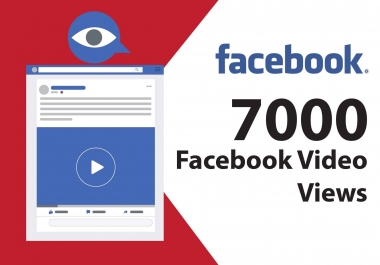 Give you 7000 Facebook (Ad-break)Video Views