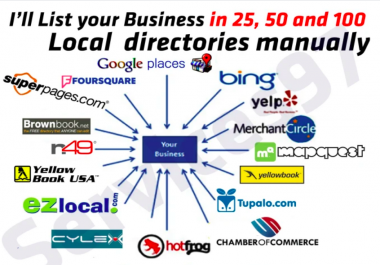 build local citation and directory submission upto 25 sites