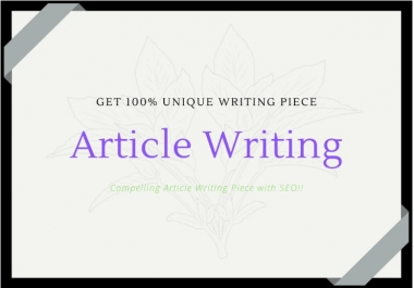 do SEO Article Writing for your Website & Blog