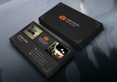 design outstanding business card with two concepts