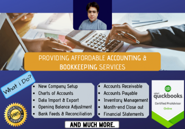 do accounting, bookkeeping in QuickBooks online and excel