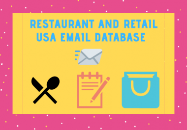 give you usa restaurant and retail email list