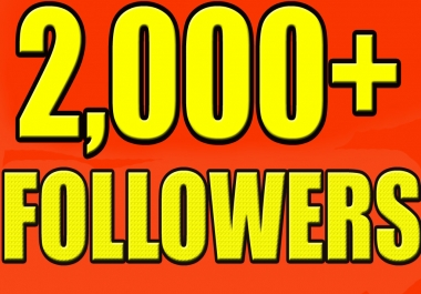 Add You Fast 2000+ Twitter Followers Real High Quality & Non Drop