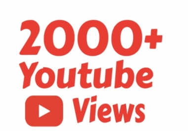 Give You Real 2000 Non-Drop High-Quality YouTube views