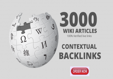 Create Massive 3000 High Authority Wiki Backlinks To Boost Website Rankings