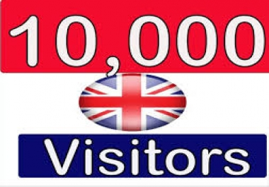 Give you 10,000 Guaranteed Uk Visitors to your site with proofs