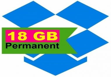 increase your dropbox storage to 18GB permanently