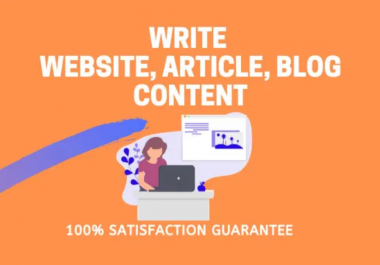 do SEO article writing, blog writing and website content