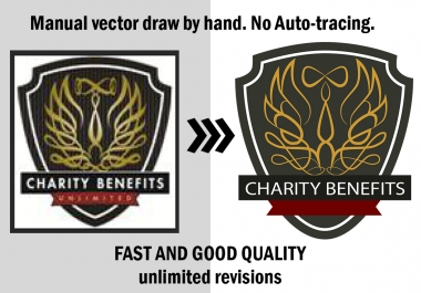 vectorize your logo or convert image to vector in 24 hours