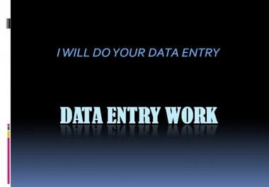 do your Data Entry for your business and web serach
