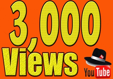Give You High Quality 3,000+YOUTUBE views