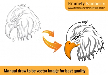 draw your sketch or image to be scalable file or vector