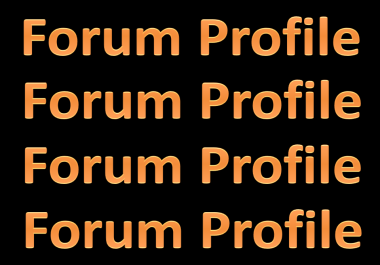 create 150-200 high PR Forum profile backlinks for your Website
