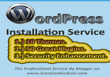 install WordPress with 10Themes, 50Plugins on your server