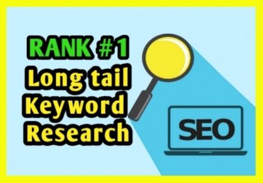 do indepth keyword research to find long tail keywords and competitors analysis for SEO in google ranking