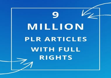 send 9 MILLION PLR MRR articles collection over 1000 niches