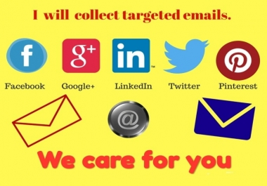 collect email and personal details from social media platforms