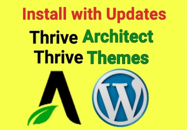 install thrive architect, thrive themes,thrive plugins in wordpress ( Any 3 )