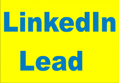 give you well researched 30 B2b Lead Generation, Email Address Using LinkedIn