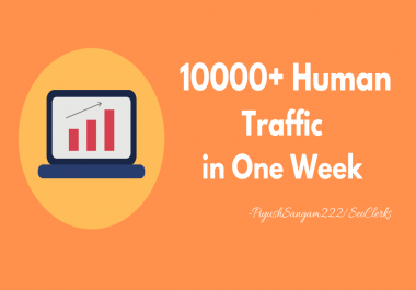 Drive 10000+ Human Traffic to Your Website in one Week