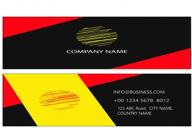 design a attractive and professional business card