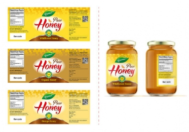 design a product label and packaging design with mock-up