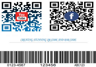 create stunning QR Code and bar code