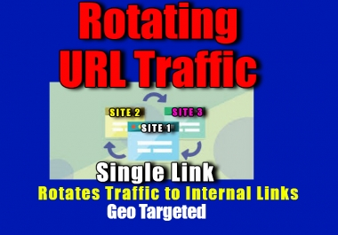 Rotate Traffic to your Main URL + Internal links with one link. 100% Adsense safe , Genuine and Geo-targeted.