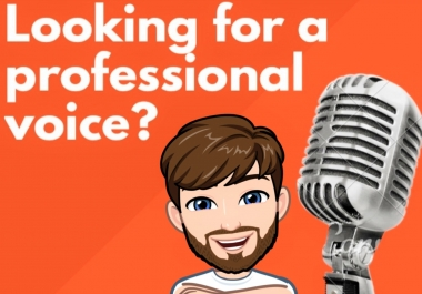 record a professional 60 second British voice over