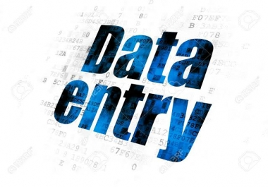 be your Virtual Assistant of data entry, web research