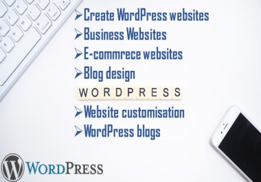 design any kind of WordPress Website.